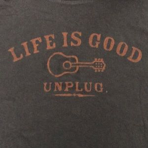 Life is Good Shirt mens small